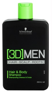 Schwarzkopf Professional [3D] MEN šampón a sprchový gél 2 v 1